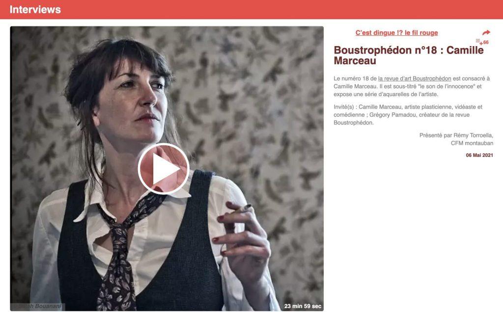 emission radio cfm Camille Marceau Boustrophedon